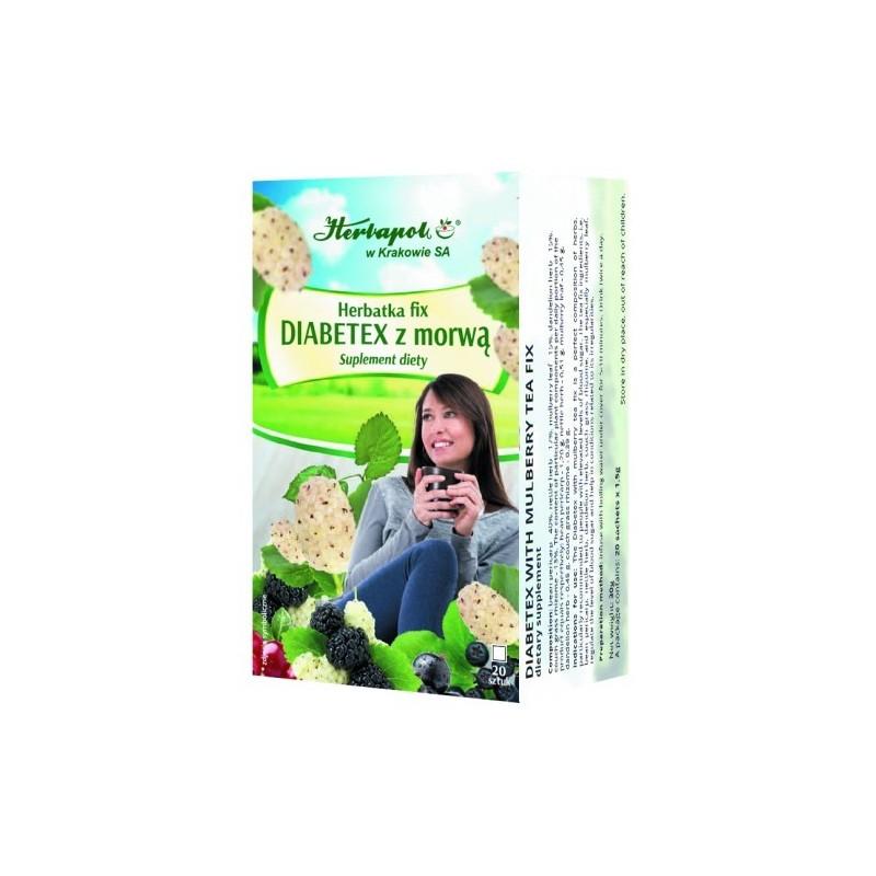 Herbata diabetex z morwą fix 20*1,5g HERBAPOL