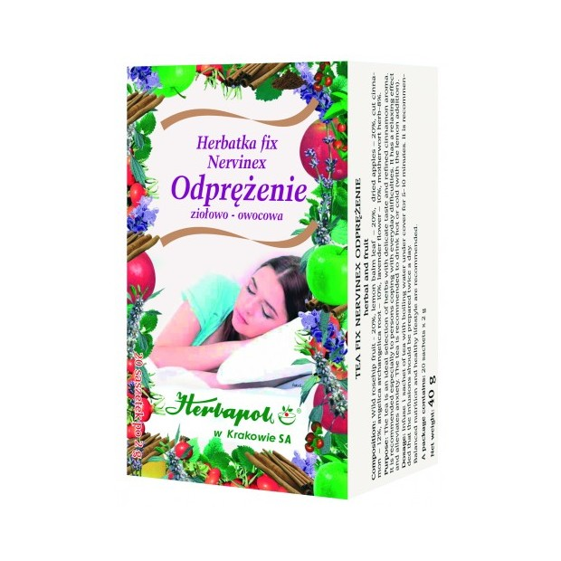 Herbata nervinex odprężenie fix 20x2g HERBAPOL