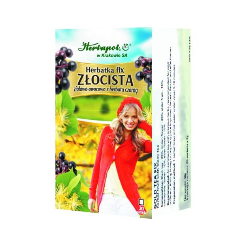 Herbata złocista przeziębienie fix 20x2g HERBAPOL