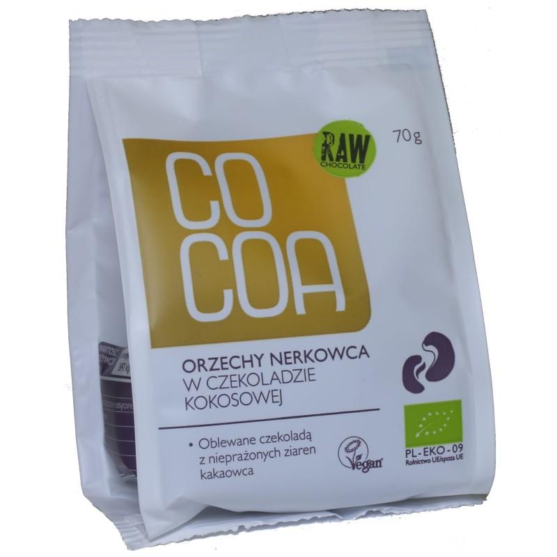 Orzchy nerkowca w czekoladzie kokosowej bio 70g COCOA