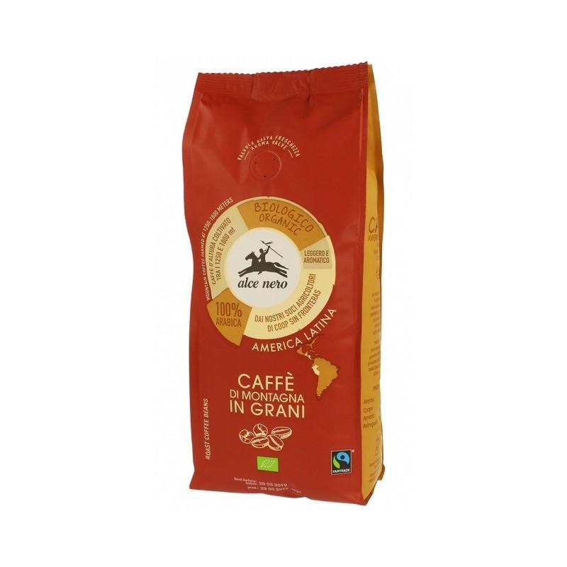 Kawa 100% Arabica ziarnista fair trade bio 500g ALCE NERO