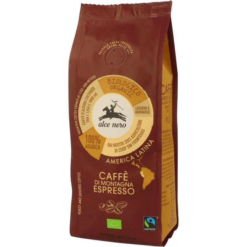 Kawa 100% arabica espresso fair trade bio 250 g ALCE NERO