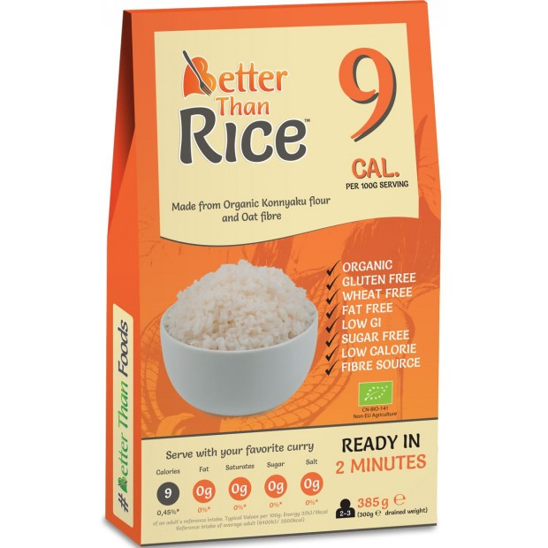 Makaron konjac w kształcie ryżu bezglutenowy bio 385g BETTER THAN FOODS