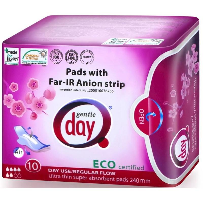 Podpaski higieniczne na dzień z paskiem anionowym 10 szt. GENTLE DAY