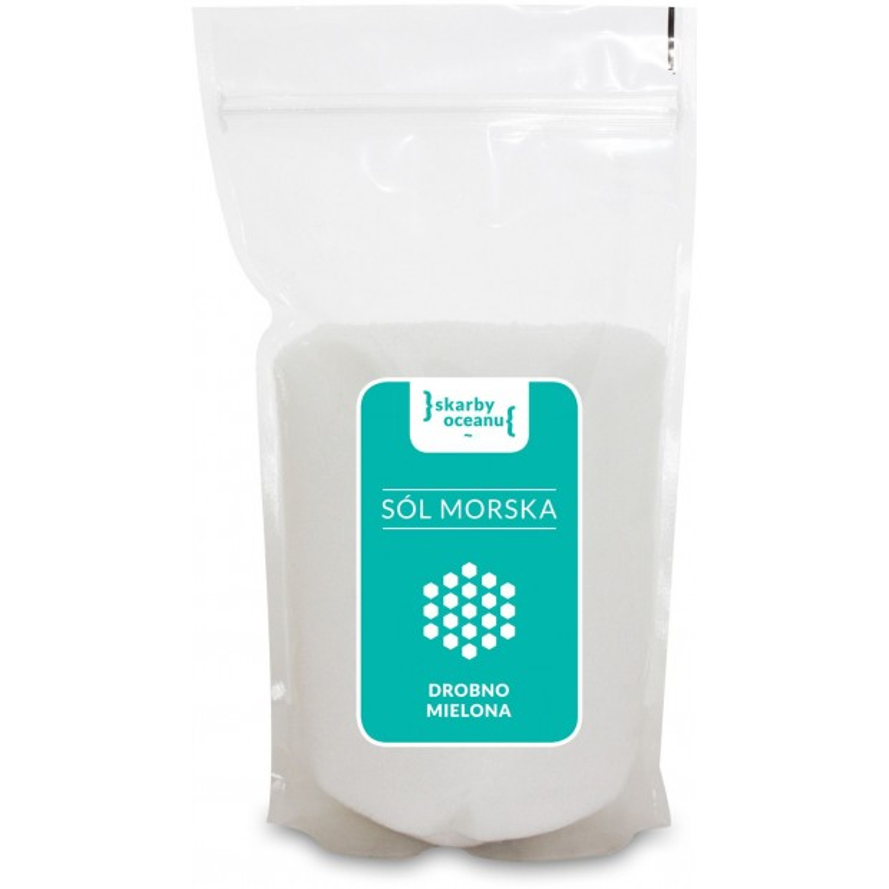 Sól morska drobno mielona 1kg CRYSTALLINE PLANET