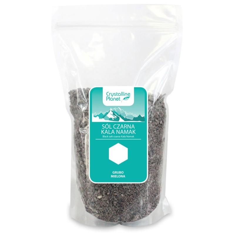 Sól czarna kala namak grubo mielona 1kg CRYSTALLINE PLANET