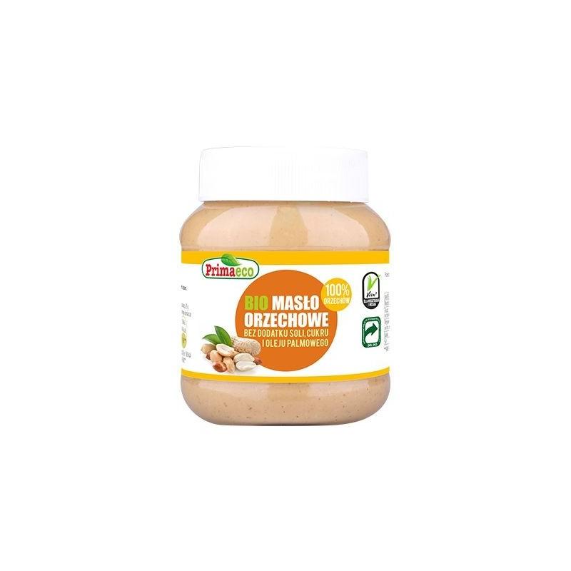 Masło orzechowe bez dodatku soli i cukru bio 360g PRIMAECO