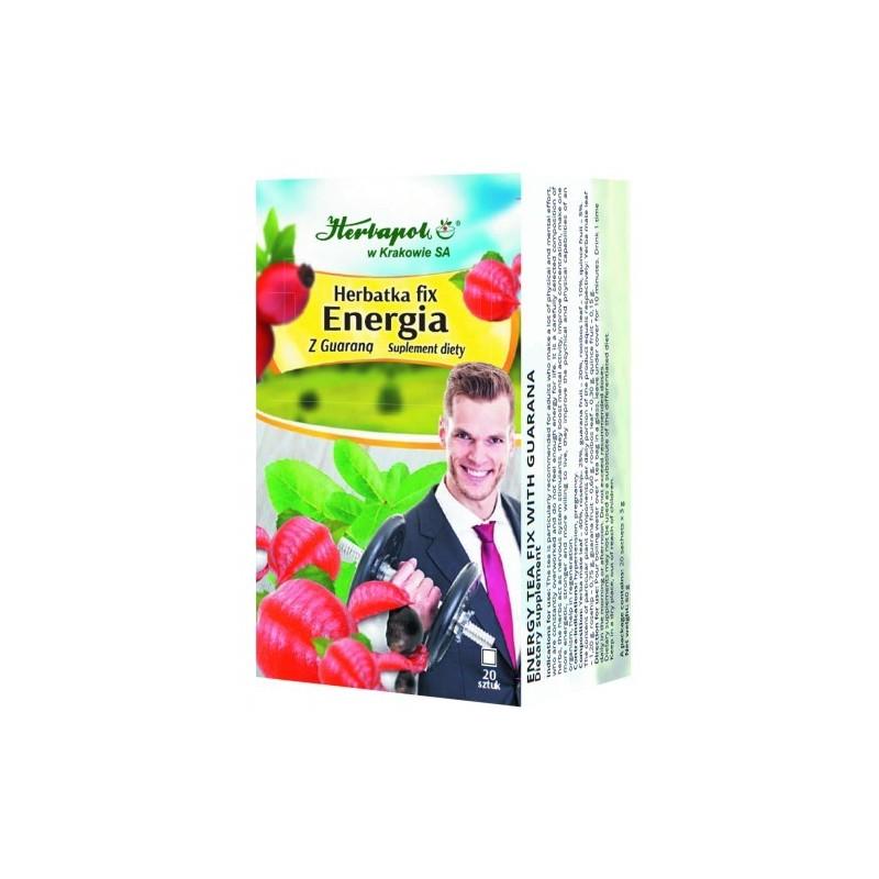 Herb. energia z guaraną fix 3g*20szt HERBAPOL