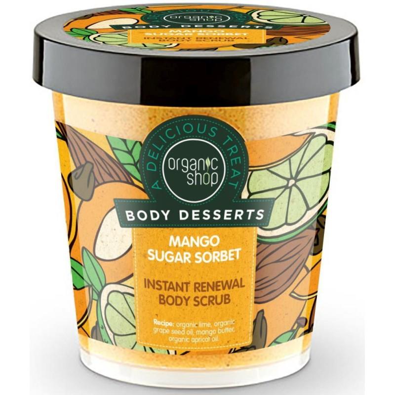 Peeling do ciała cukrowy sorbet mango 450ml ORGANIC SHOP