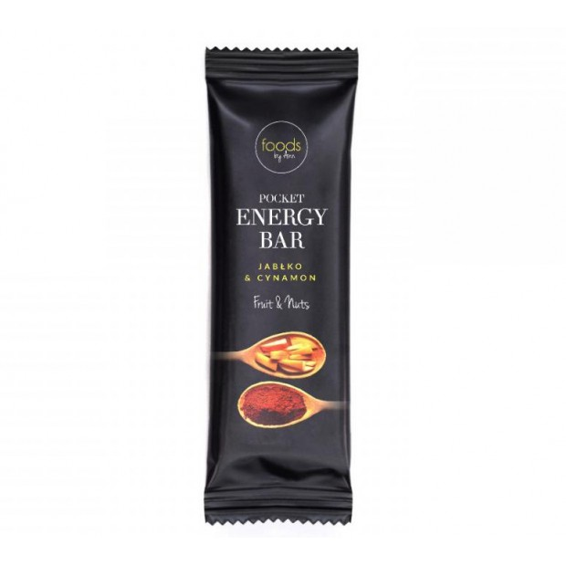 POCKET ENERGY BAR Jabłko & Cynamon 35g FOODS BY ANN
