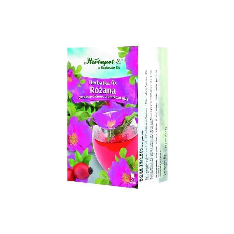 Herbata różana fix 20*3g HERBAPOL