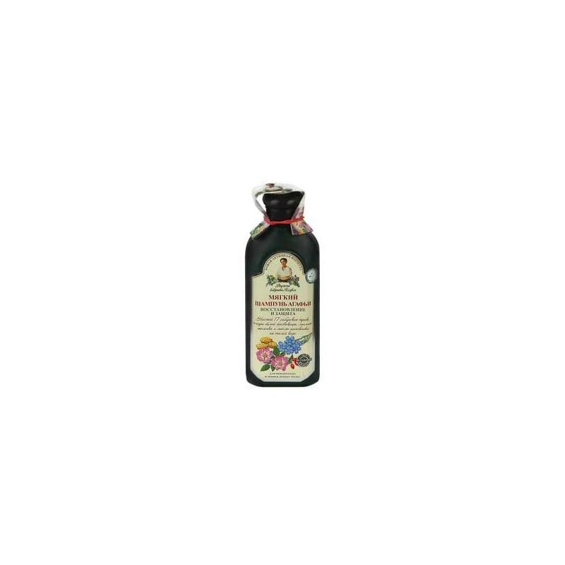Szampon ziołowy miękki - do farbowanych i zniszczonych włosów 350ml RECEPTURY BABCI AGAFI