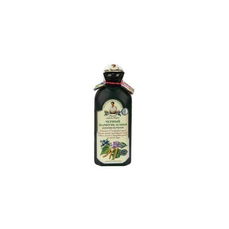 Szampon ziołowy czarny przeciwłupieżowy 350ml AGAFI