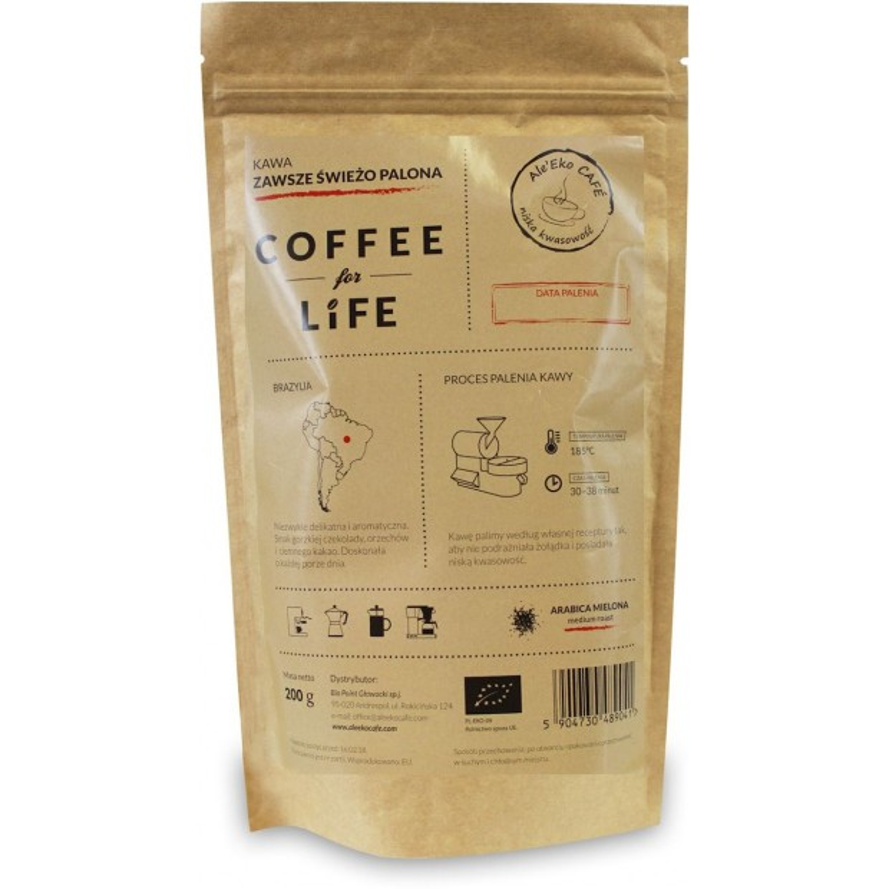 Kawa 100% Arabica mielona Brazylia bio 200g ALE EKO CAFE