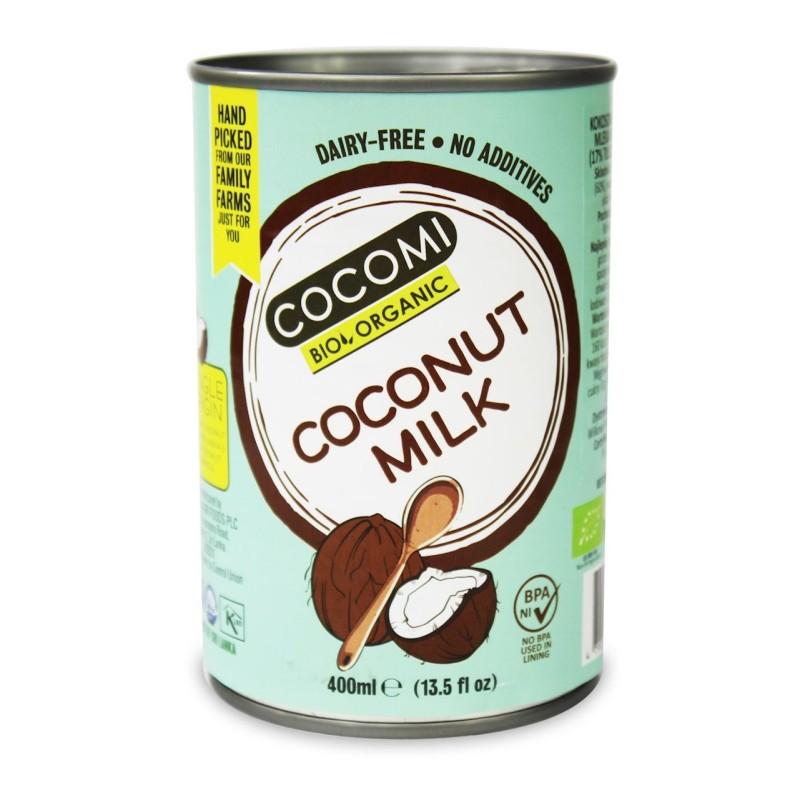Mleczko kokosowe w puszce 17% tł. BIO 400ml COCOMI
