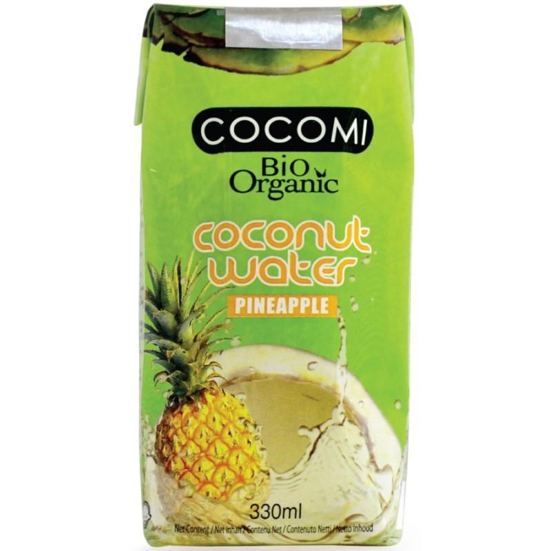 Woda kokosowa o smaku ananasa bio 330ml COCOMI