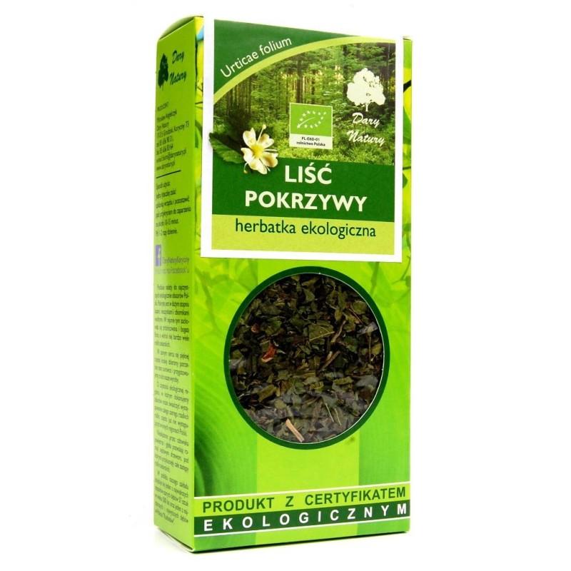 Herbata liść pokrzywy bio 25g DARY NATURY