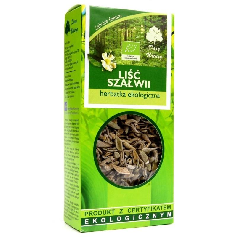 Herbatka liść szałwi bio 25g DARY NATURY