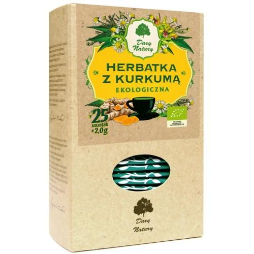 Herbata z kurkumą BIO 2gx25szt. DARY NATURY