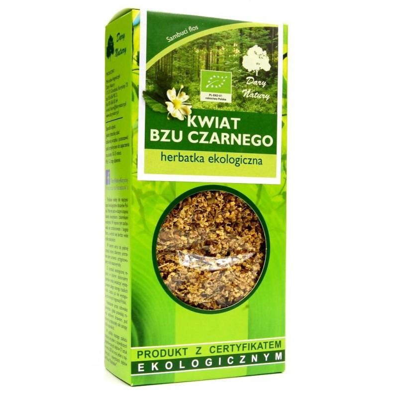 Herbata z kwiatu bzu czarnego bio 50g DARY NATURY