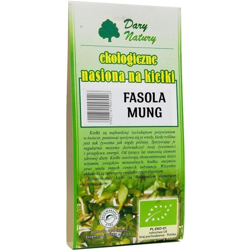 Nasiona fasoli mung na kiełki bio 50g DARY NATURY