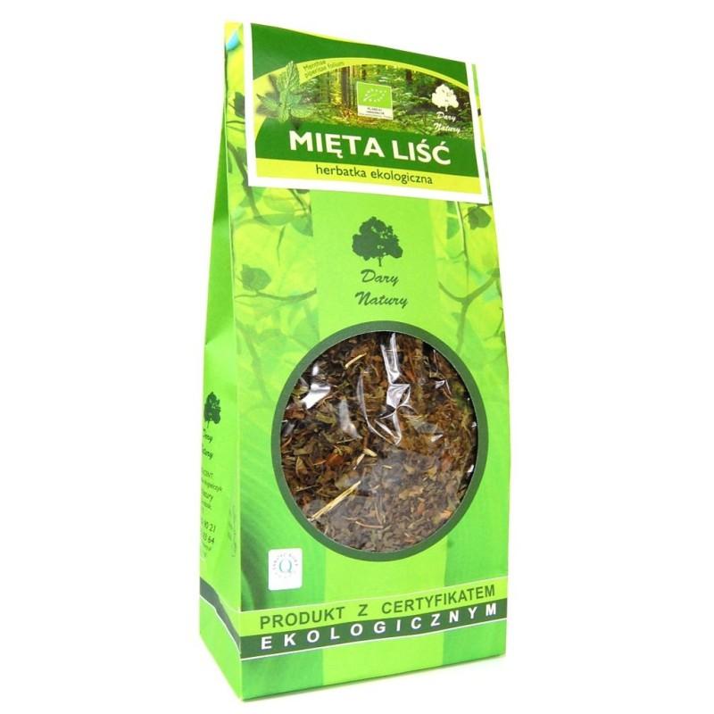 Herbata liść mięty bio 100g DARY NATURY