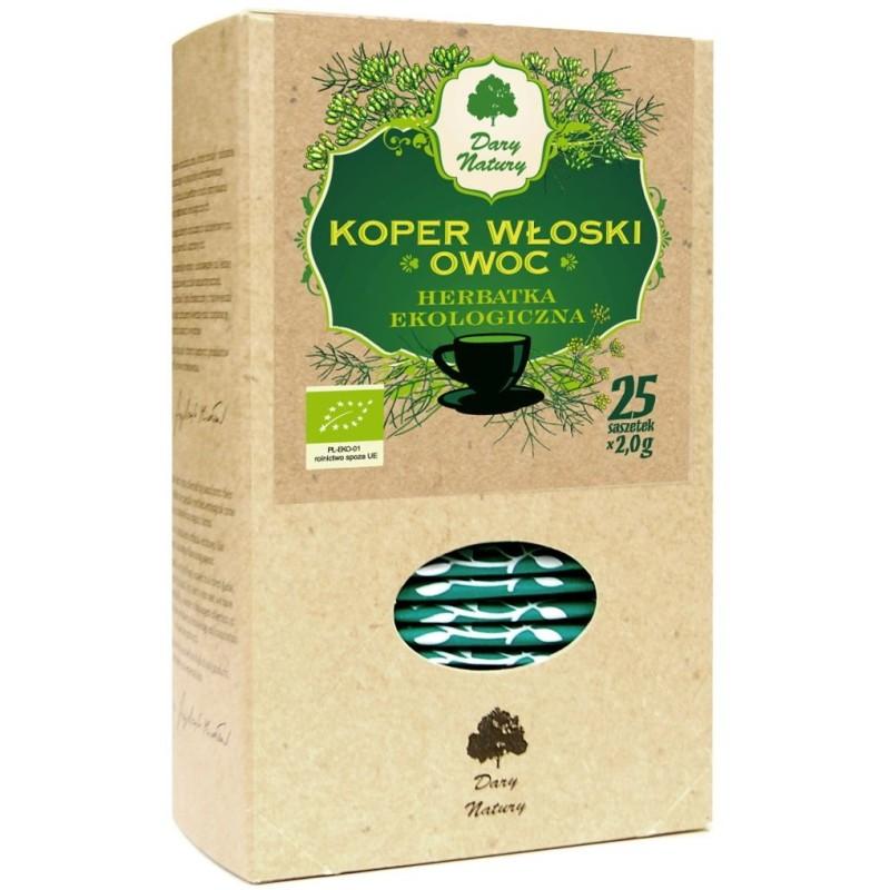 Herbatka z owocu kopru włoskiego bio 25x2g DARY NATURY