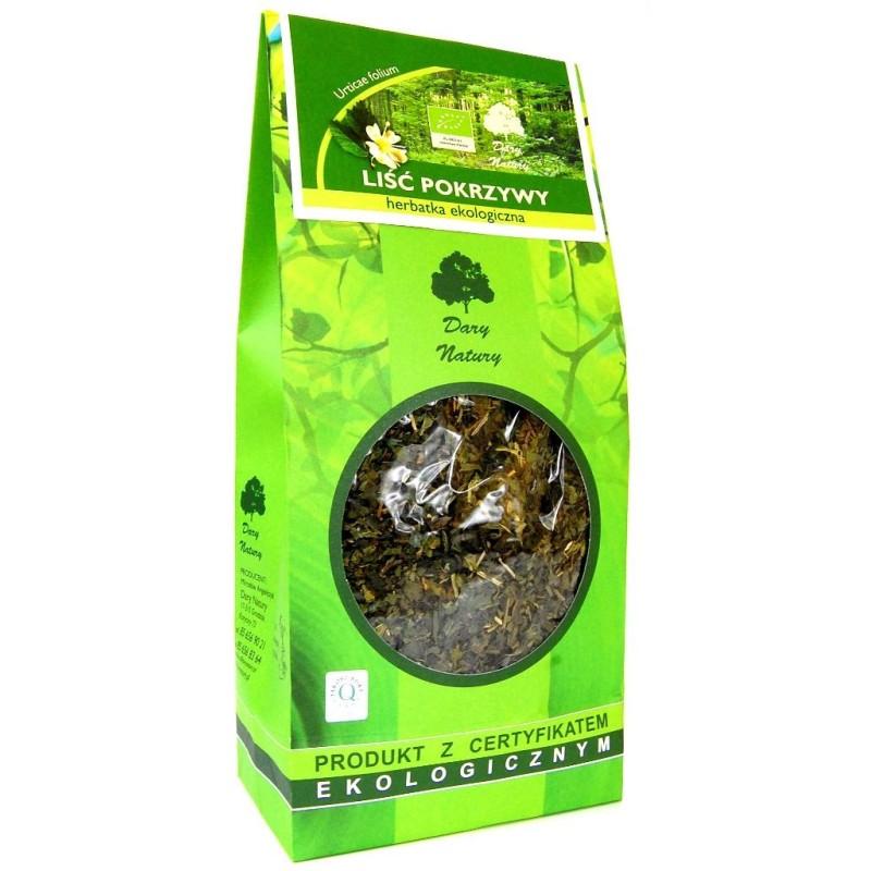 Herbata liść pokrzywy bio 100g DARY NATURY