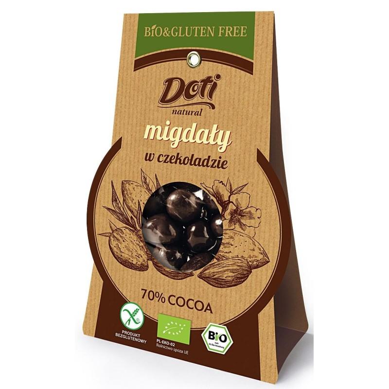 Migdały w czekoladzie bezglutenowe BIO 50g DOTI