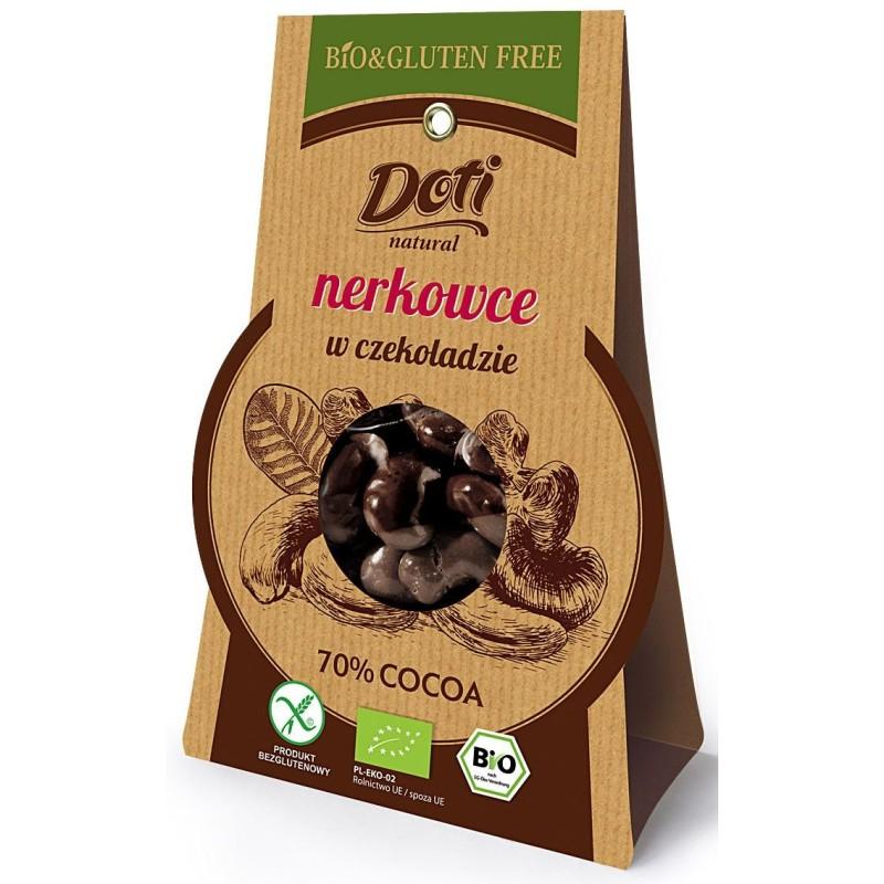 Orzechy nerkowca w czekoladzie bezglutenowe bio 60g DOTI