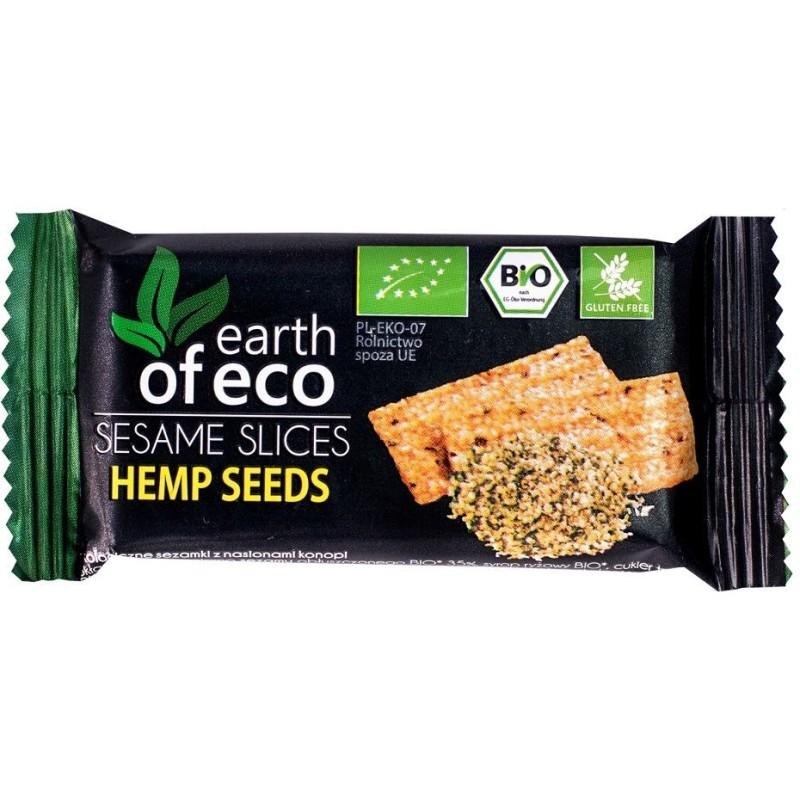 Sezamki z nasionami konopi BIO 18g EARTH OF ECO