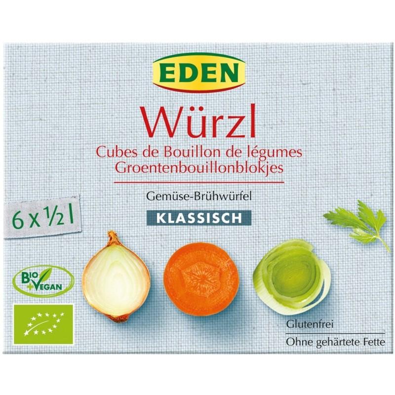 Bulion kostki warzywne bezglutenowe bio 66g (6*11g) EDEN