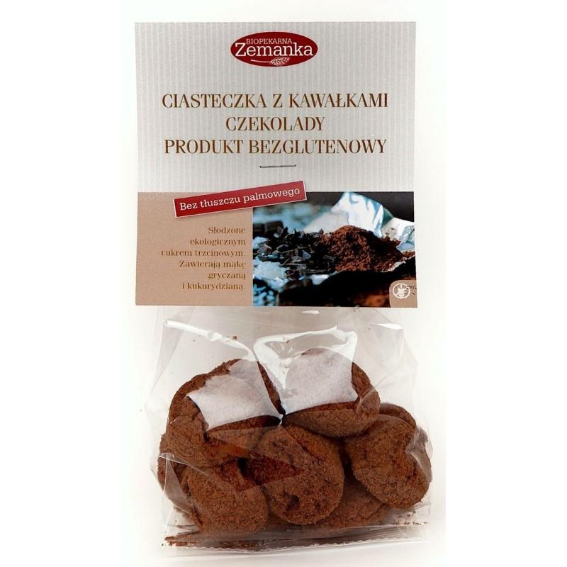 Ciasteczka z kawałkami czekolady bezglutenowe bio 100g ZEMANKA