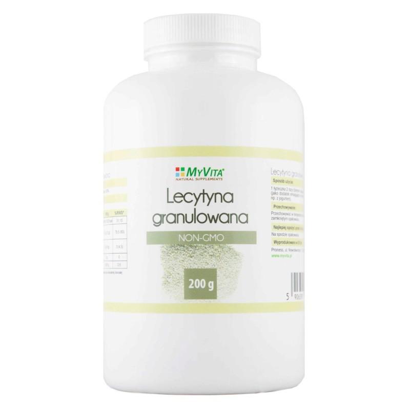 Lecytyna non-gmo granulowana 200g MYVITA