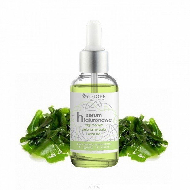 Serum hialuronowe do twarzy (przeciwzmarszczkowe) z algami 30ml E-FIORE