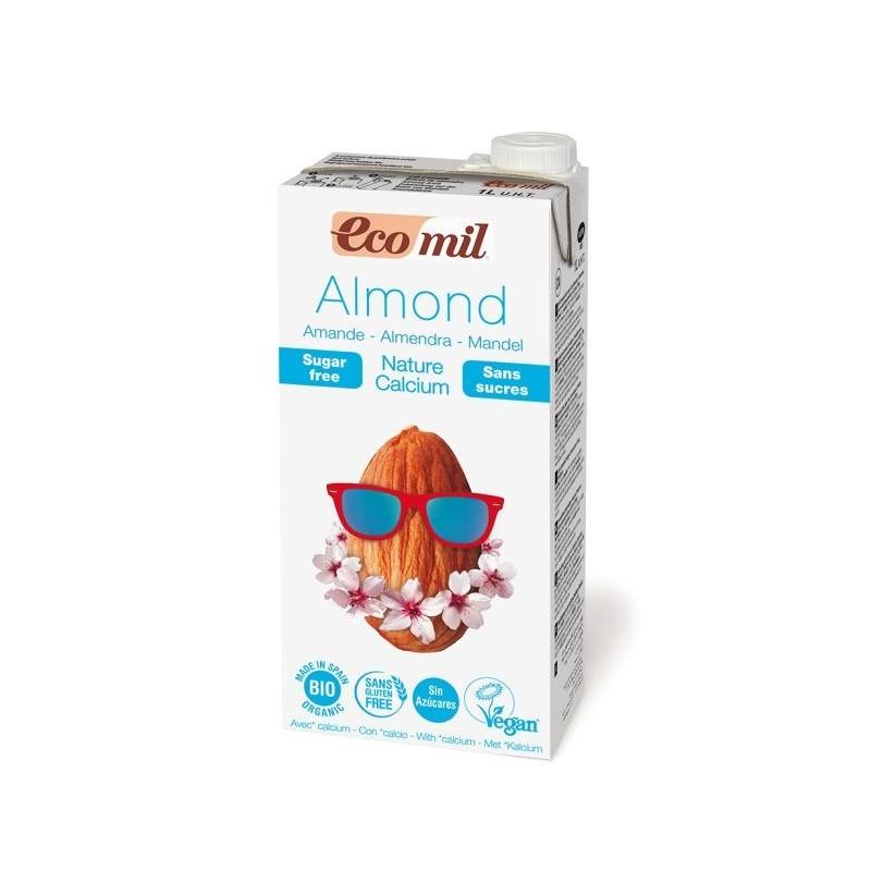 Napój migdałowy niesłodzony z wapniem bio 1l ECOMIL