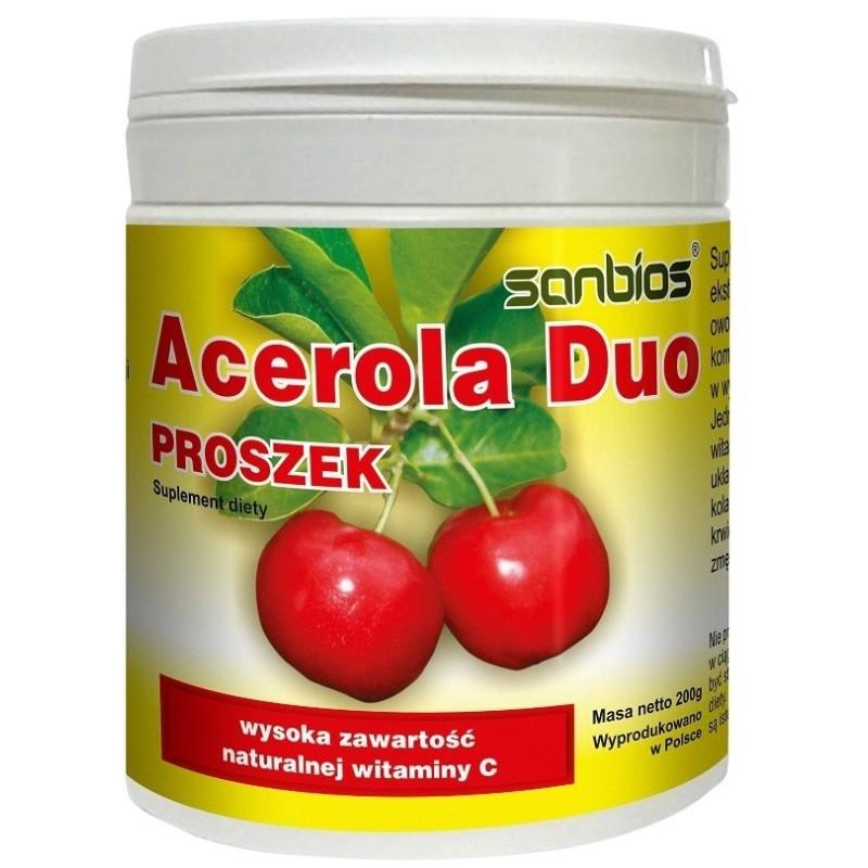 Acerola Duo proszek 200 g SANBIOS