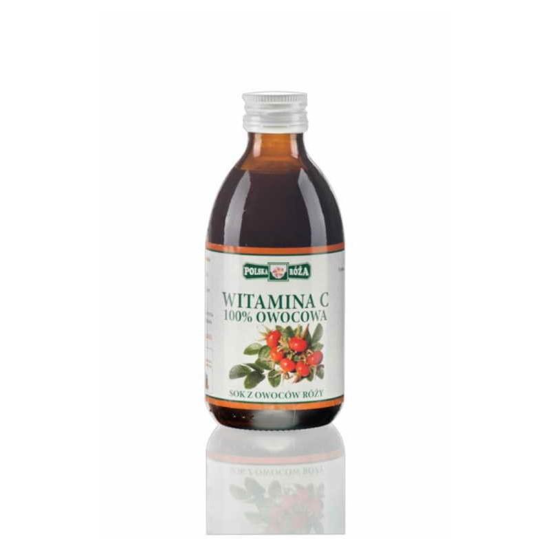 Sok witamina C 100% owocowa z owoców róży 250ml POLSKA RÓŻA