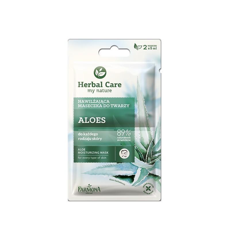 Maseczka nawilżająca Aloes 2x5ml Herbal Care