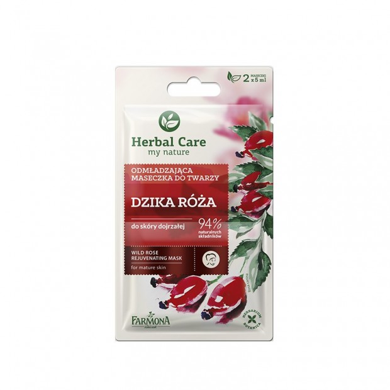 Maseczka odmładzająca dzika róża 2x5ml Herbal Care