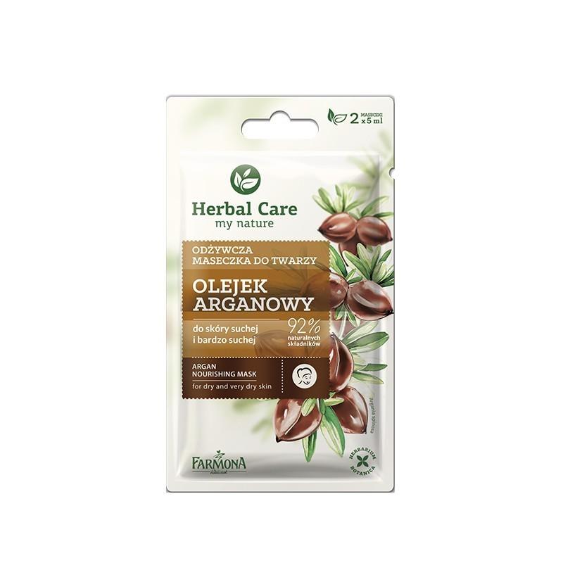 Maseczka odżywcza olejek arganowy 2x5ml Herbal Care