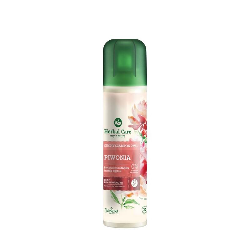 Suchy szampon piwonia 2w1 (odświeża i nadaje objętość) 180ml Herbal Care
