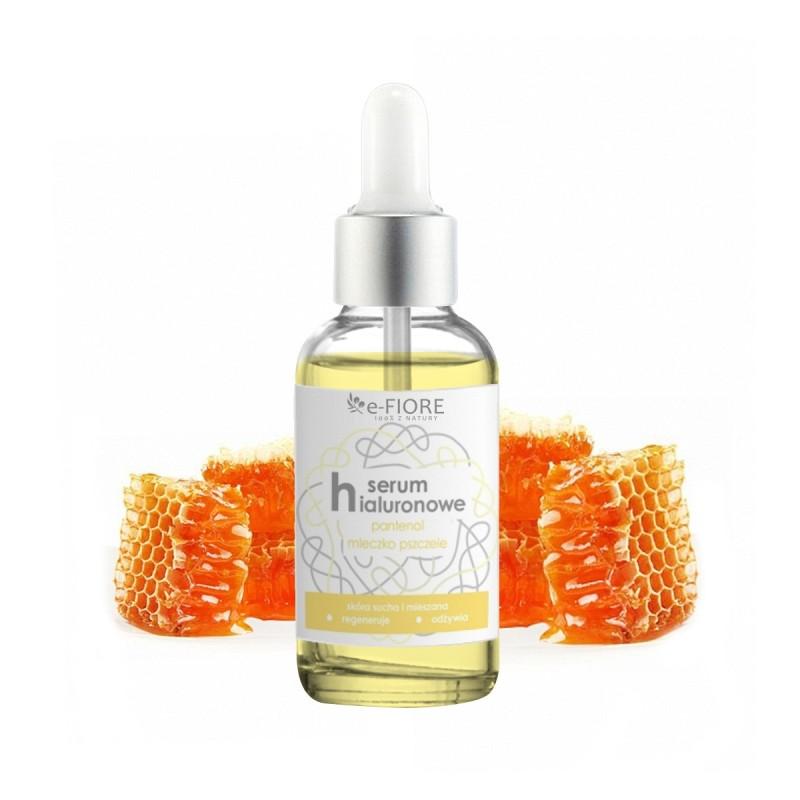 Serum hialuronowe do twarzy (regenerujące) z pantenolem i mleczkiem pszczelim 30ml E-FIORE