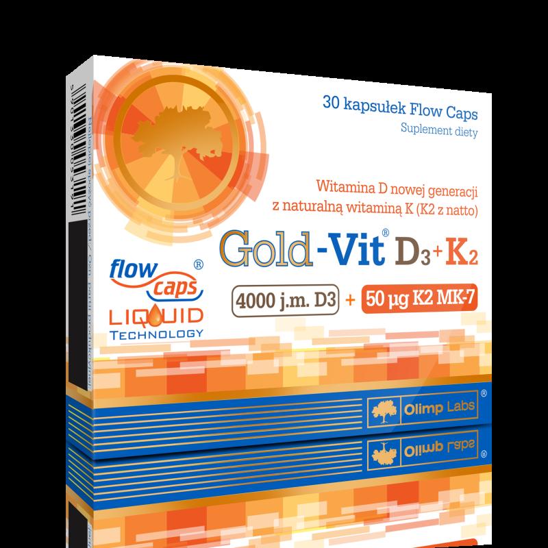 Gold-Vit D3+K2 30 kaps OLIMP