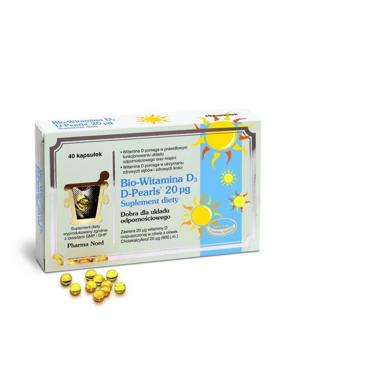 Bio-Witamina D3 D-Pearls 20mcg 40 kaps PHARMA NORD