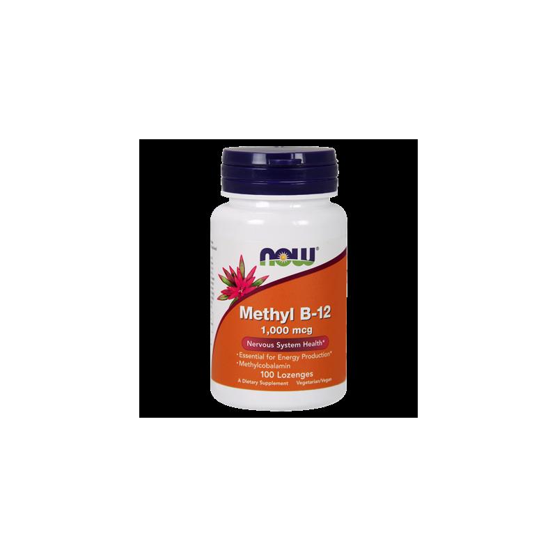 Methyl B-12 1000mcg 100 pastylek NOW FOODS