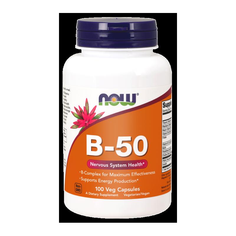 Kompleks witamin B-50 100 tabl. NOW FOODS
