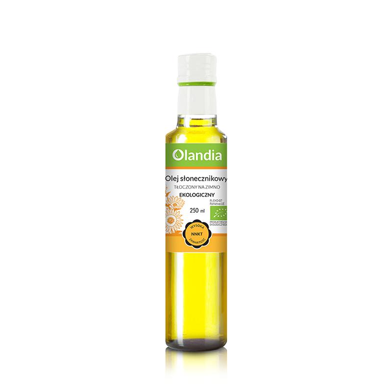 Eko olej słonecznikowy 250ml OLANDIA