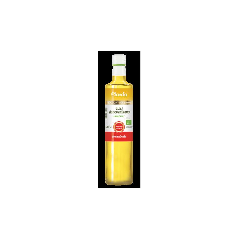 Eko olej słonecznikowy do smażenia 500 ml OLANDIA