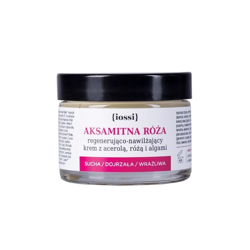 Aksamitna róża - regenerująco-nawilżający krem z acerolą, róża i algami 50ml IOSSI